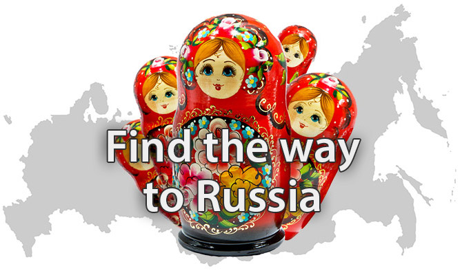 Find the way to Russia
